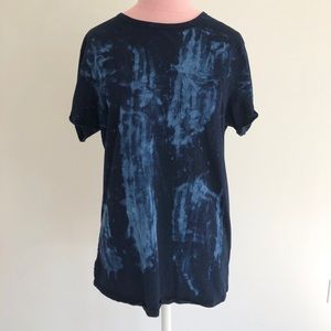 Men's Urban Outfitters Blue Printed Pocket T-shirt